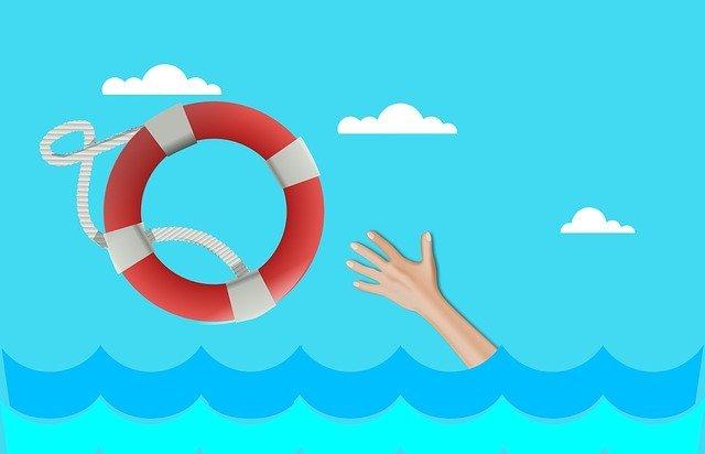 hand life boat