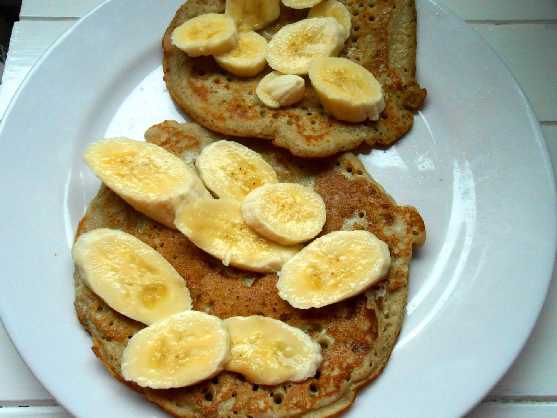 low GI buckwheat banana pancakes