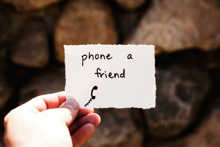 mental health phone a friend