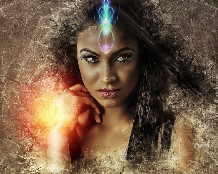 woman fierce warrior