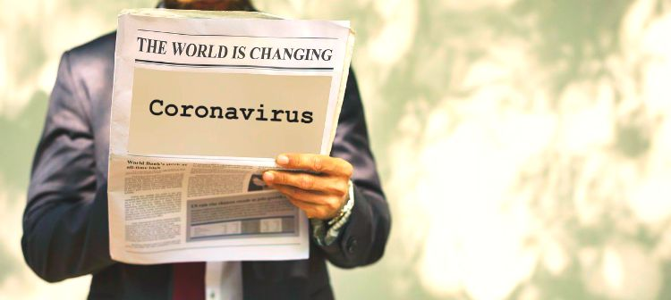 Coronavirus world is changing newspaper