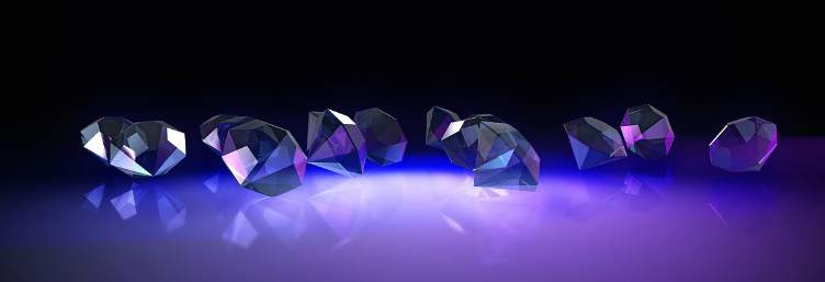 crystals diamonds