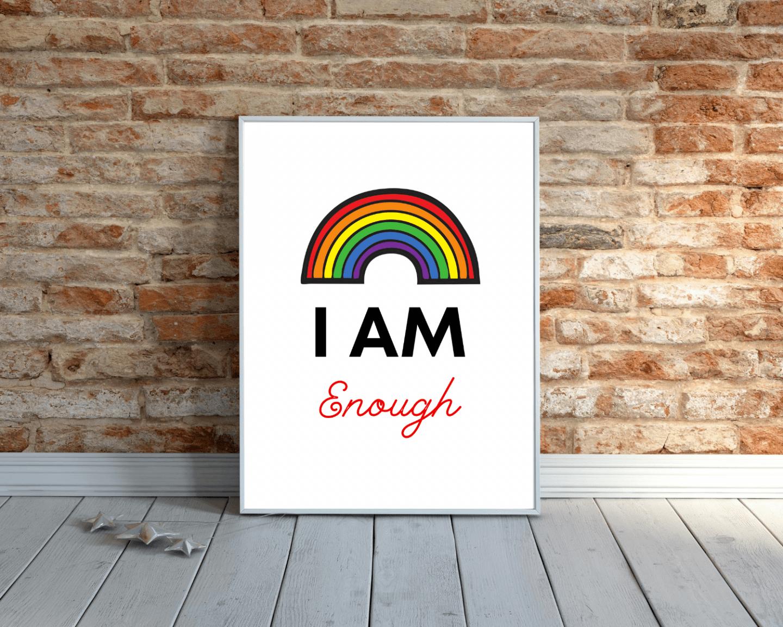 i am enough affirmation art