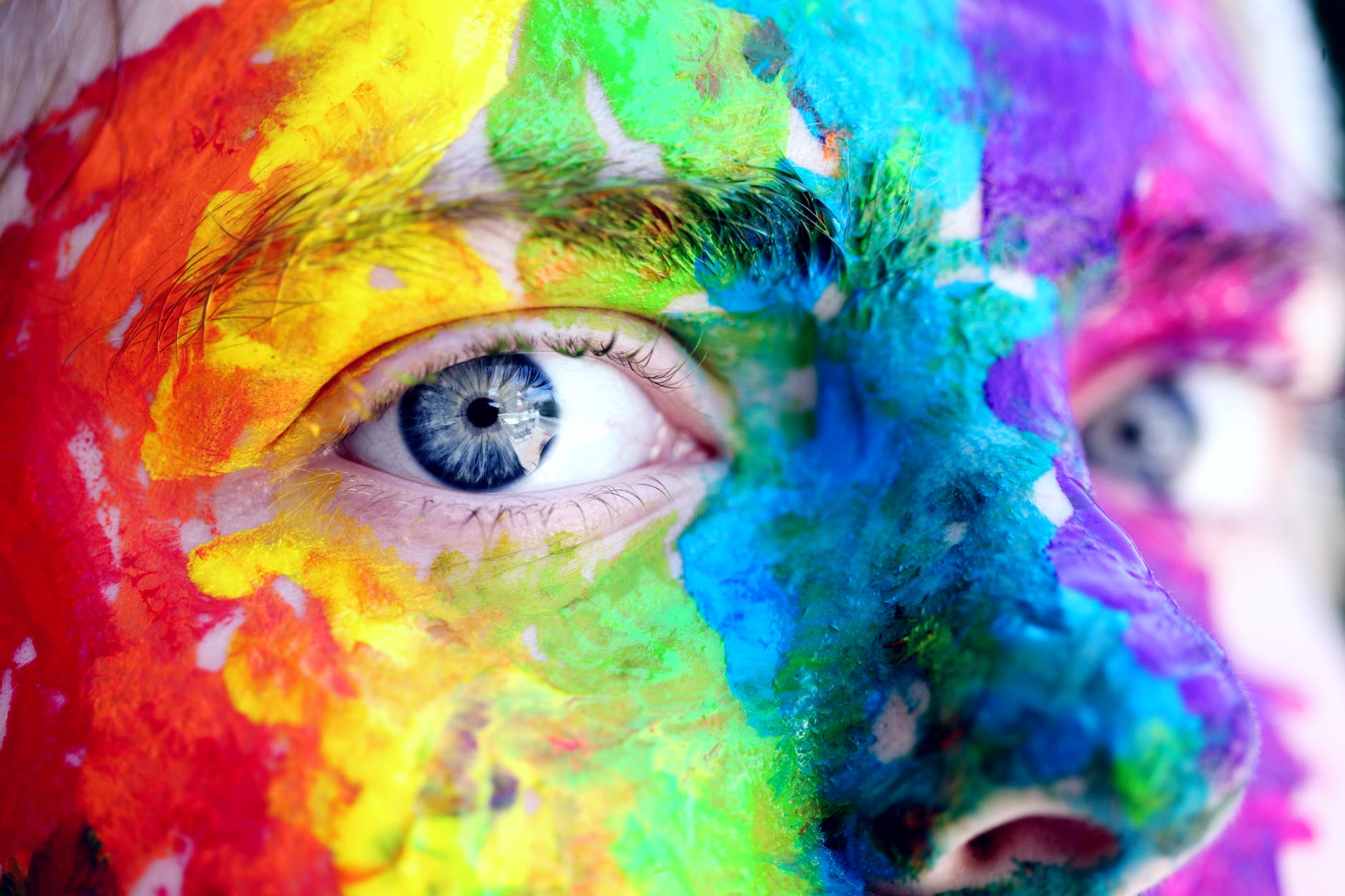 eyes rainbow face painting
